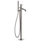 BRENTA смеситель для ванны напольный графитовый хром, IMPRESE ZMK091908060